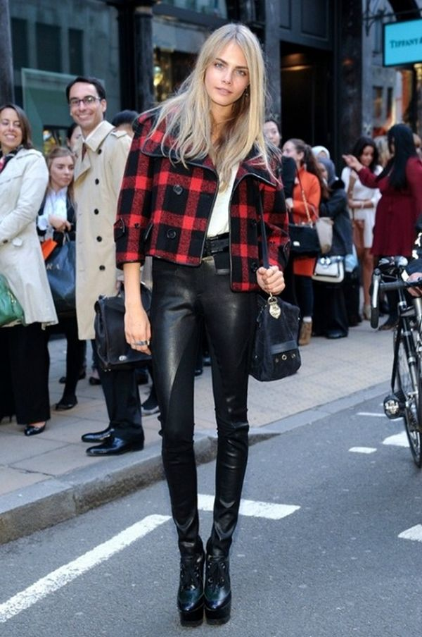 Cara leather pants